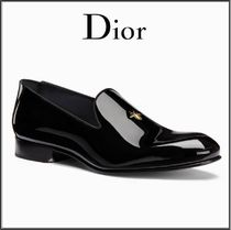 Christian Dior Moccasin Enamel Street Style Plain Loafers & Slip-ons