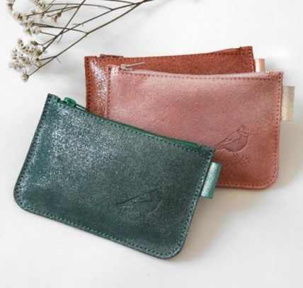 Bi-color Other Animal Patterns Leather Coin Purses