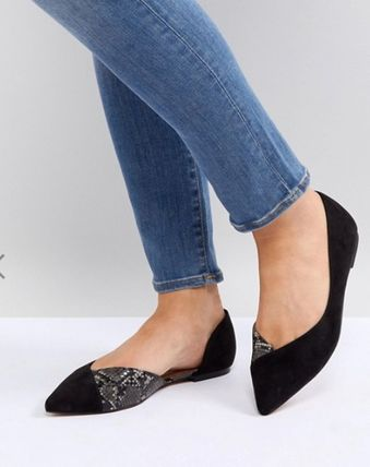 076fc75598 ... ASOS Pointed Toe Suede Office Style Pointed Toe Pumps & Mules ...