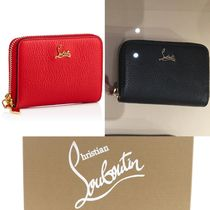 Christian Louboutin Panettone  Studded Plain Leather Coin Purses