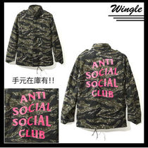 ANTI SOCIAL SOCIAL CLUB Camouflage Unisex Street Style Outerwear