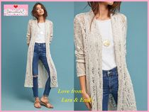 Anthropologie Casual Style Long Sleeves Plain Long Cardigans