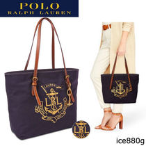 POLO RALPH LAUREN Casual Style Leather Totes