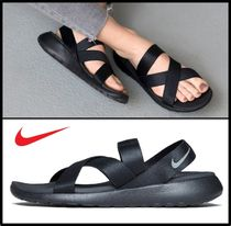 Nike Casual Style Street Style Sport Sandals Flat Sandals