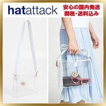 HAT Attack Casual Style Unisex 2WAY Plain PVC Clothing Shoulder Bags