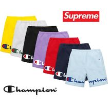 Supreme Printed Pants Unisex Sweat Street Style Collaboration Shorts