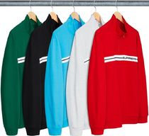 Supreme Unisex Street Style Long Sleeves Tops