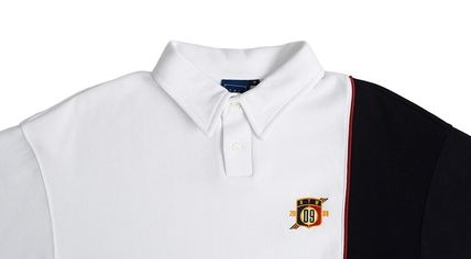 ROMANTIC CROWN Polos Pullovers Unisex Plain Short Sleeves Oversized Polos 10