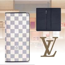 Louis Vuitton Other Check Patterns Unisex Leather Long Wallets