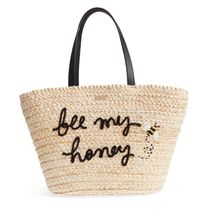 kate spade new york A4 Straw Bags