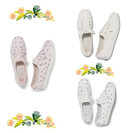 Round Toe Rubber Sole Collaboration Low-Top Sneakers