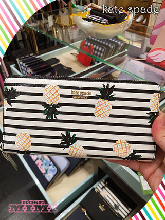 Stripes Long Wallets