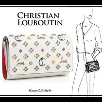 Christian Louboutin Paloma Calfskin Studded 2WAY Chain Party Style Clutches