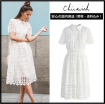 Chicwish Medium Short Sleeves Elegant Style Dresses
