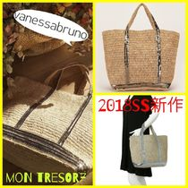 vanessabruno Casual Style A4 Plain Straw Bags