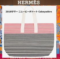 HERMES Casual Style Canvas Totes