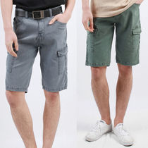 Studded Street Style Cotton Cargo Shorts