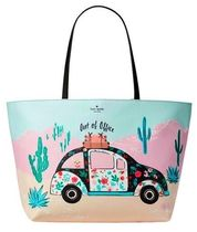 kate spade new york Flower Patterns Casual Style Canvas Street Style A4 Totes
