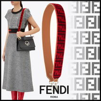 FENDI Monogram Blended Fabrics Leather Elegant Style Bags