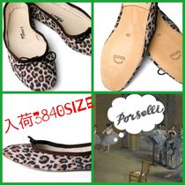 PORSELLI Leopard Patterns Round Toe Casual Style Suede Handmade