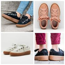PUMA SUEDE Round Toe Casual Style Unisex Suede Street Style
