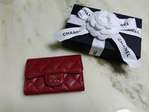 CHANEL TIMELESS CLASSICS Plain Leather Card Holders