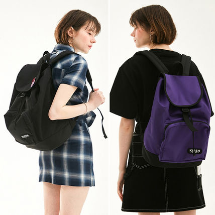 Casual Style Unisex Street Style A4 Plain Backpacks
