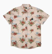 TCSS Flower Patterns Tropical Patterns Cotton Short Sleeves