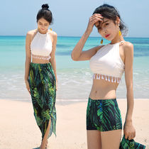 Tropical Patterns Tassel Plain Beach Cover-Ups