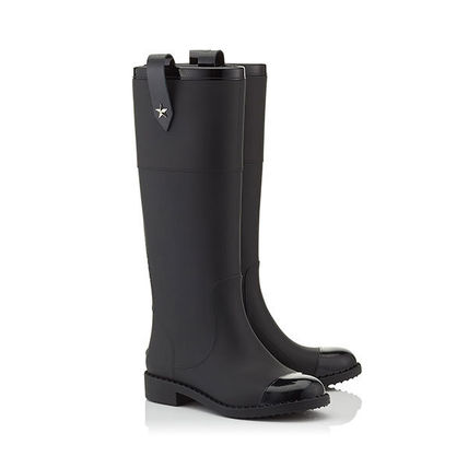Jimmy Choo Rubber Sole Plain PVC Clothing Over-the-Knee Boots