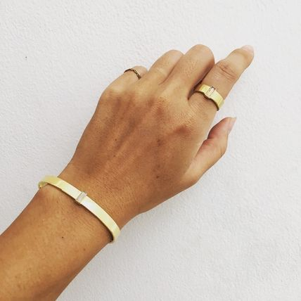 Casual Style 18K Gold Rings