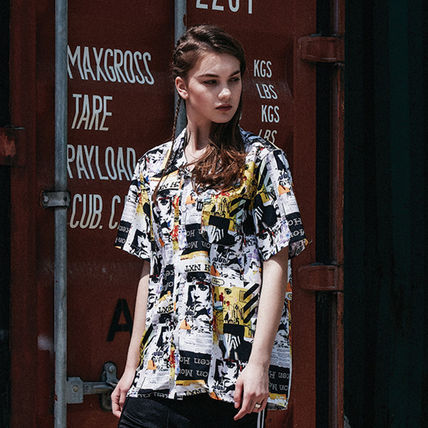 Tropical Patterns Street Style Short Sleeves