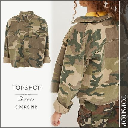 Short Camouflage Casual Style Jackets