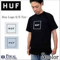 HUF Crew Neck Pullovers Cotton Short Sleeves Crew Neck T-Shirts