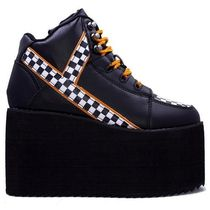 YRU Other Plaid Patterns Platform Lace-up Casual Style Faux Fur