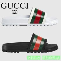 5227180c7f8 GUCCI 2018 SS Stripes Unisex Street Style Shower Shoes Shower Sandals (429469  GIB10 9079