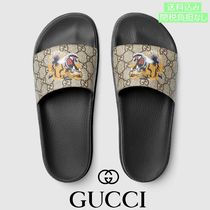 GUCCI Unisex Street Style Other Animal Patterns Leather