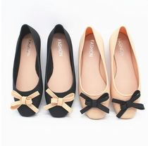 Round Toe Rubber Sole Bi-color Plain Sport Sandals