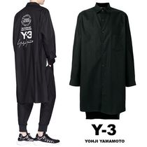 Y-3 Street Style Long Sleeves Plain Cotton Shirts