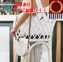Chuchka Casual Style 2WAY Plain Straw Bags