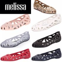 Melissa Round Toe Rubber Sole Casual Style Flip Flops PVC Clothing
