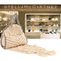Stella McCartney FALABELLA Casual Style Blended Fabrics 2WAY Chain Plain Fringes Totes