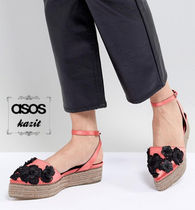 ASOS Flower Patterns Platform Casual Style Lace-Up Shoes