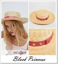ASOS Blended Fabrics Straw Boaters Straw Hats