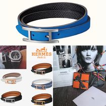 HERMES Bangles Leather Bracelets