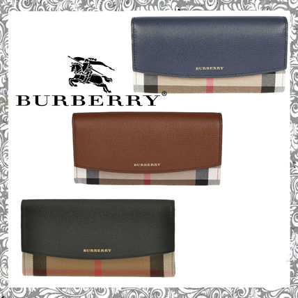 Gingham Long Wallets