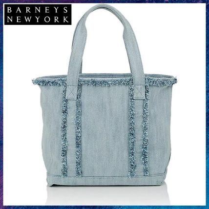 Casual Style Canvas Street Style Fringes Totes