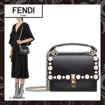 FENDI KAN I Calfskin 2WAY Plain Shoulder Bags