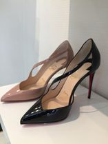 Christian Louboutin Plain Leather Pin Heels Pointed Toe Pumps & Mules