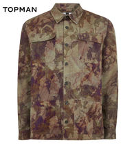 TOPMAN Camouflage Long Sleeves Shirts